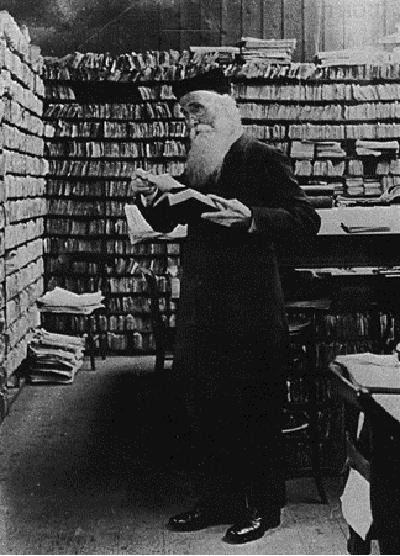 Sir James Murray in his Scriptorium